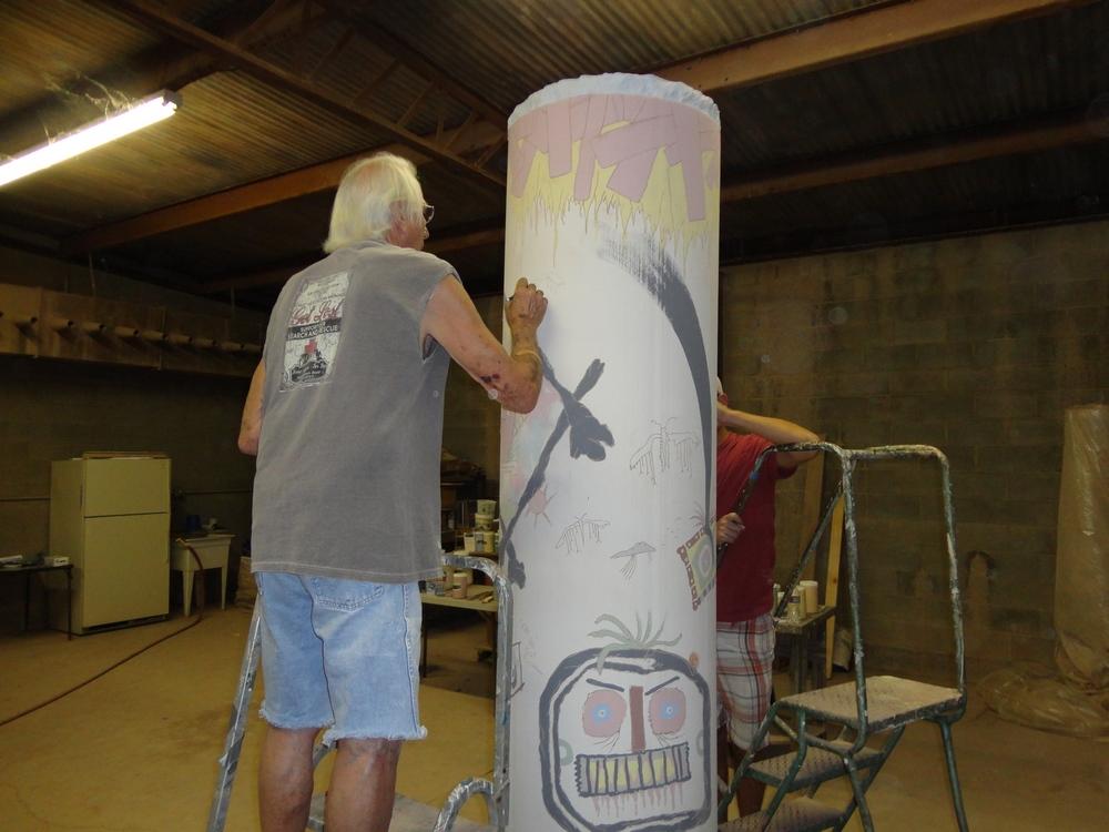 Don Reitz working on Column