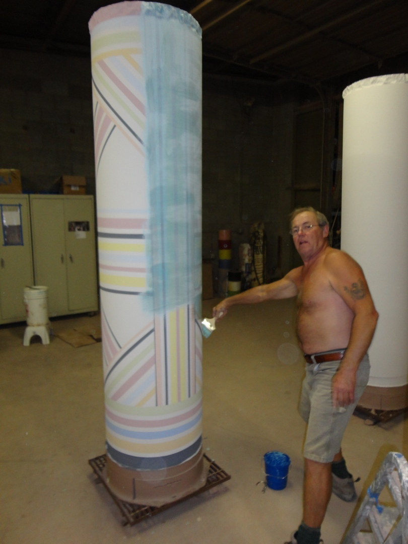 Larry Meagher Applying Clear Coat