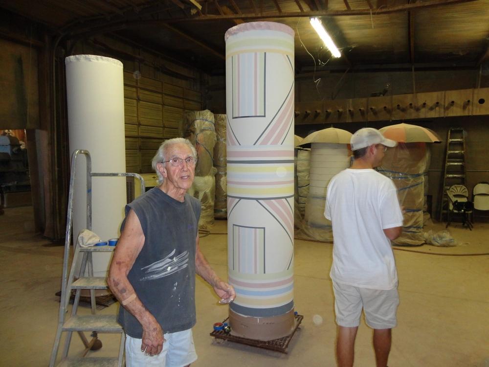 Don Reitz working on Columns