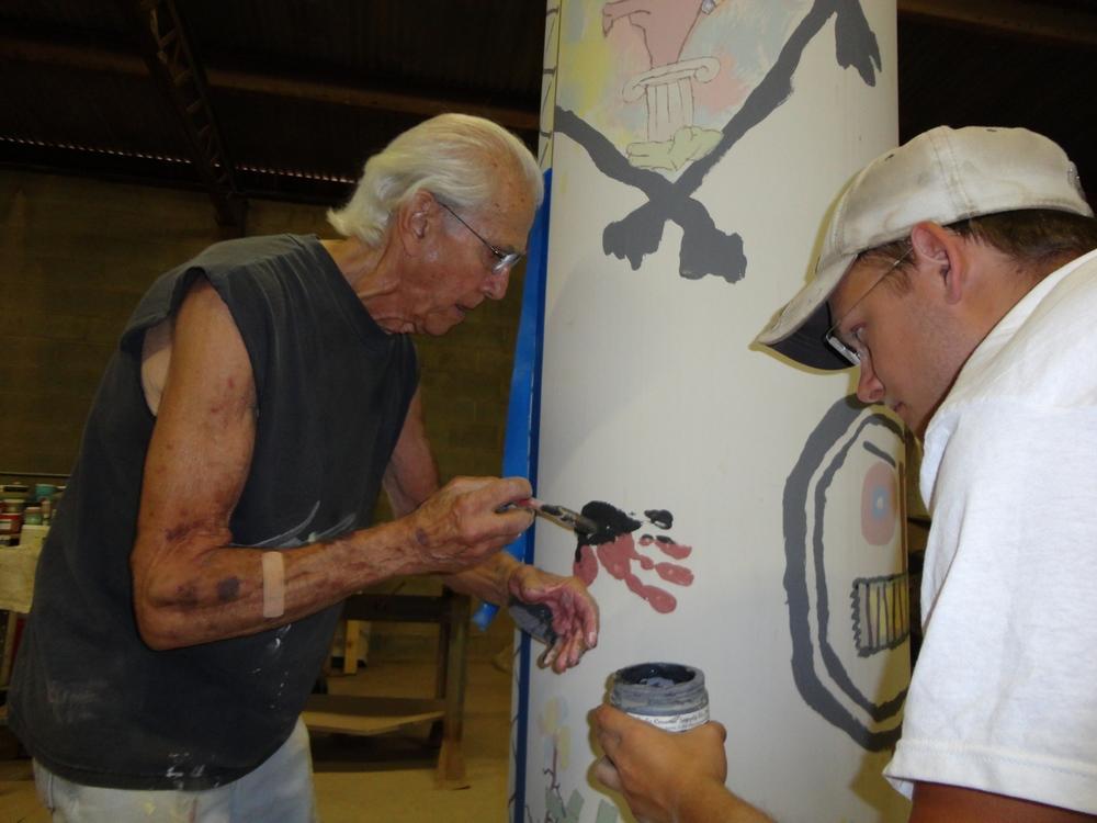 Don Reitz Hand on a Stick