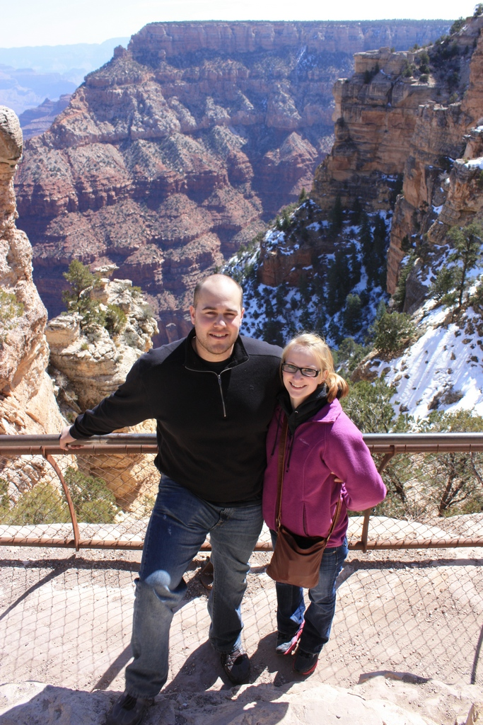 Abe and Jessica @ Grand Canyon South Rim 2012