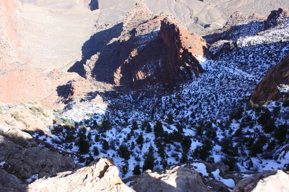 Snow at Grand Canyon South Rim 2012