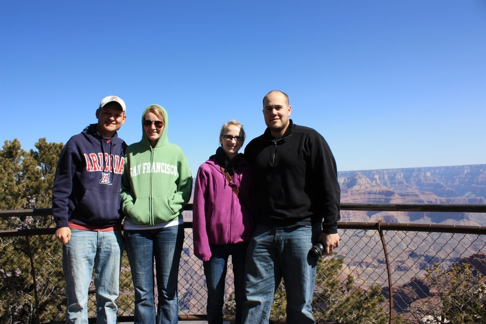 The group at the Grand Canyon South Rim 2012