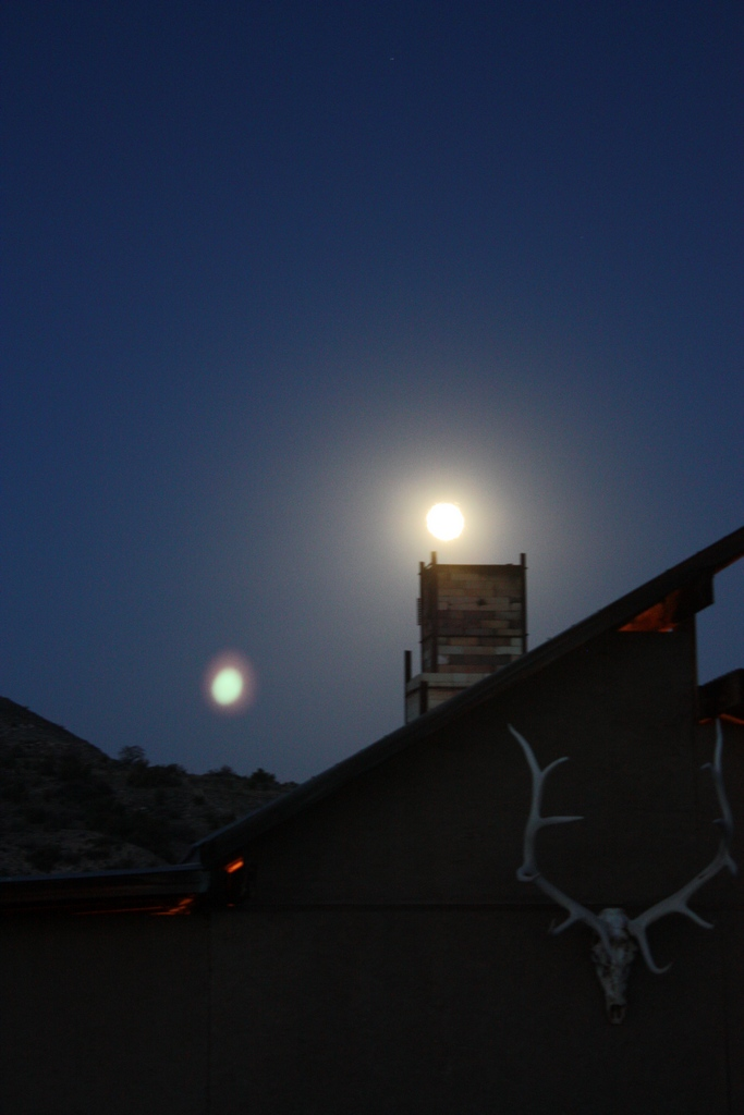 Woodkiln with Moon