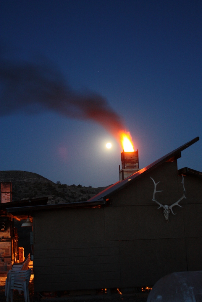 Flames and Moon