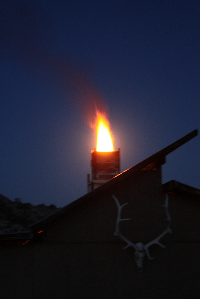 Flame Covering the Moon