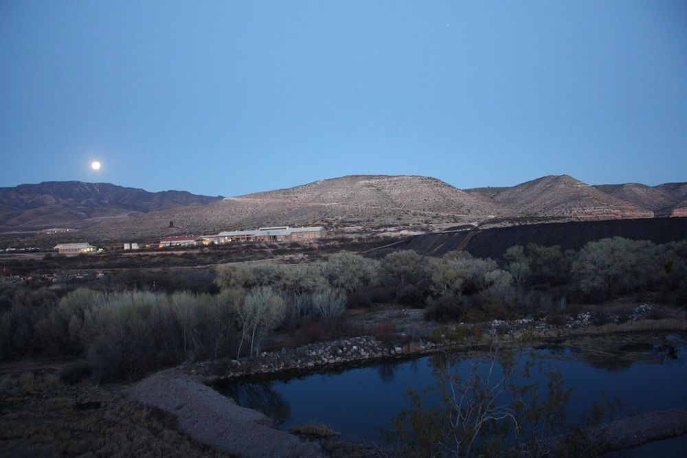 Slag pile and the Verde River