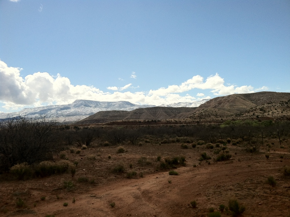 Snow in the Mountains from the Ranch