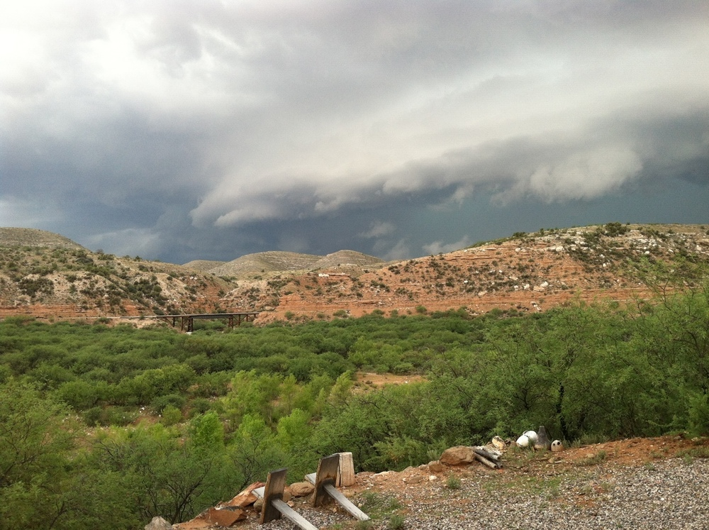 Looking over the Verde River
