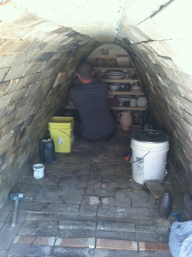 Inside of the kiln