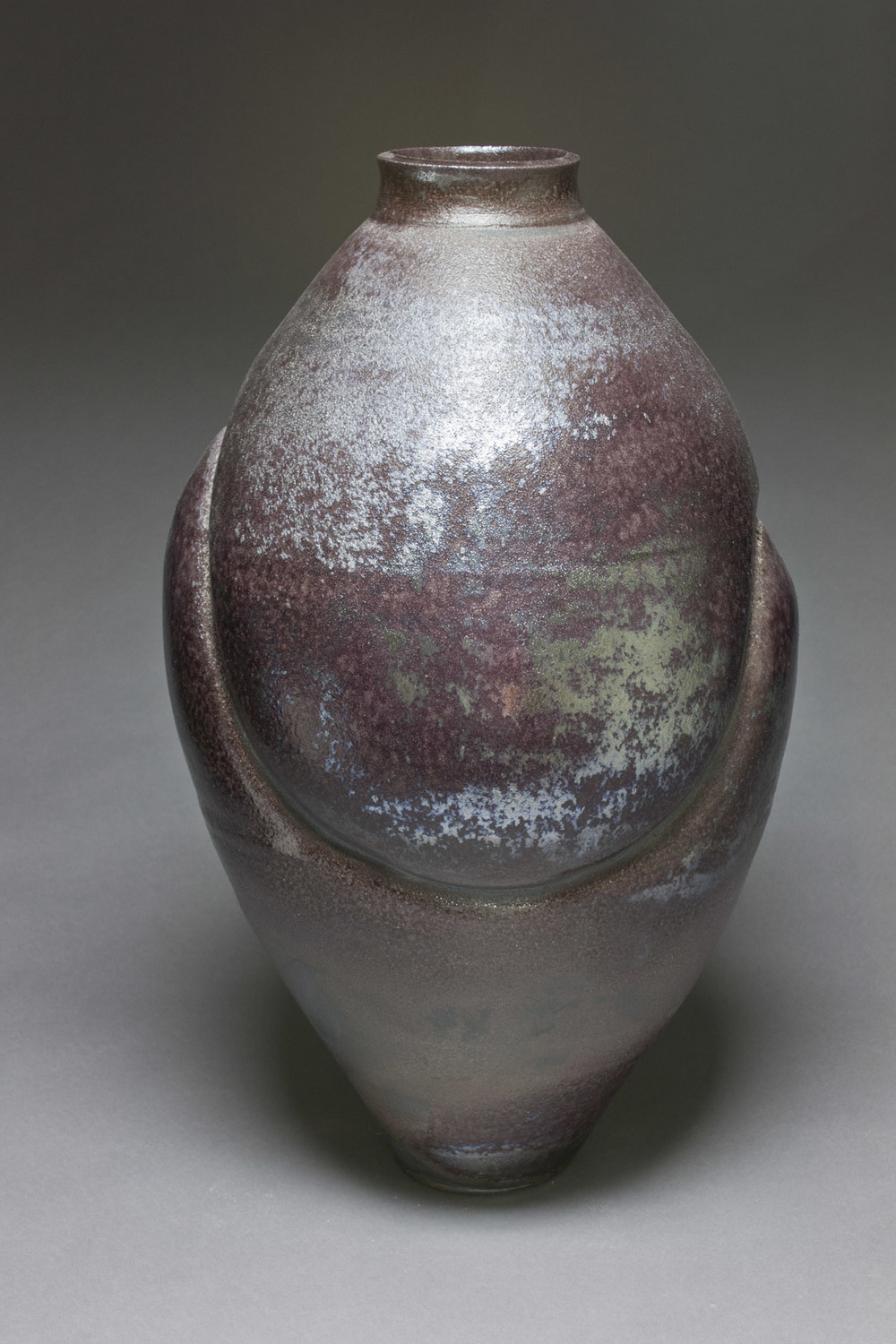 Woodfired Black Vase View 2