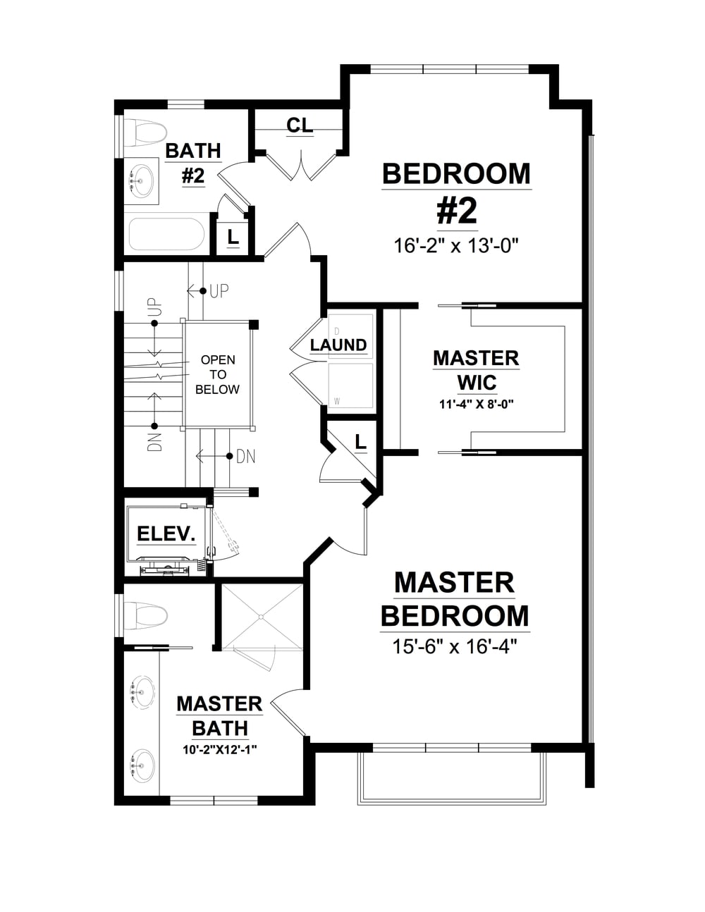 Second Floor Plan Overlea Townhomes
