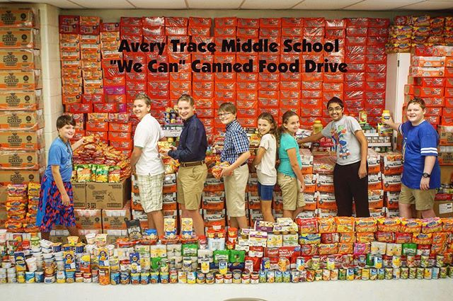 Congratulations Avery Trace Middle School in Cookeville, TN for collecting more than 10,000 items in your canned food drive!  If your students are doing amazing projects, feel free to send us photos/videos too!