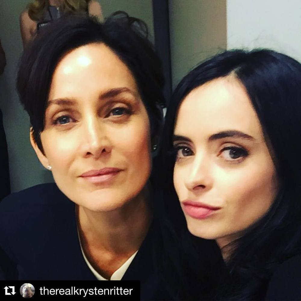 @CarrieAnneMoss @theRealKrystenRitter