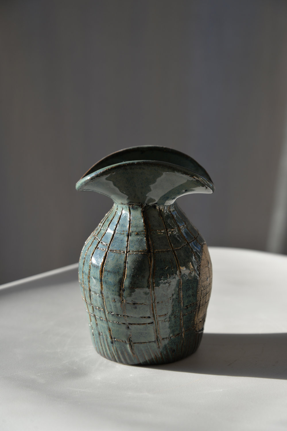 "Pete""s Weathered Blue Vase"