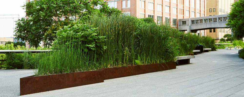 The High Line James Corner Field Operations Edging System Corten Steel