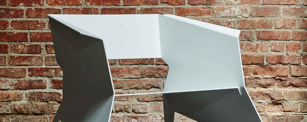 Aero Chair Matte White Powder Coated Aluminum