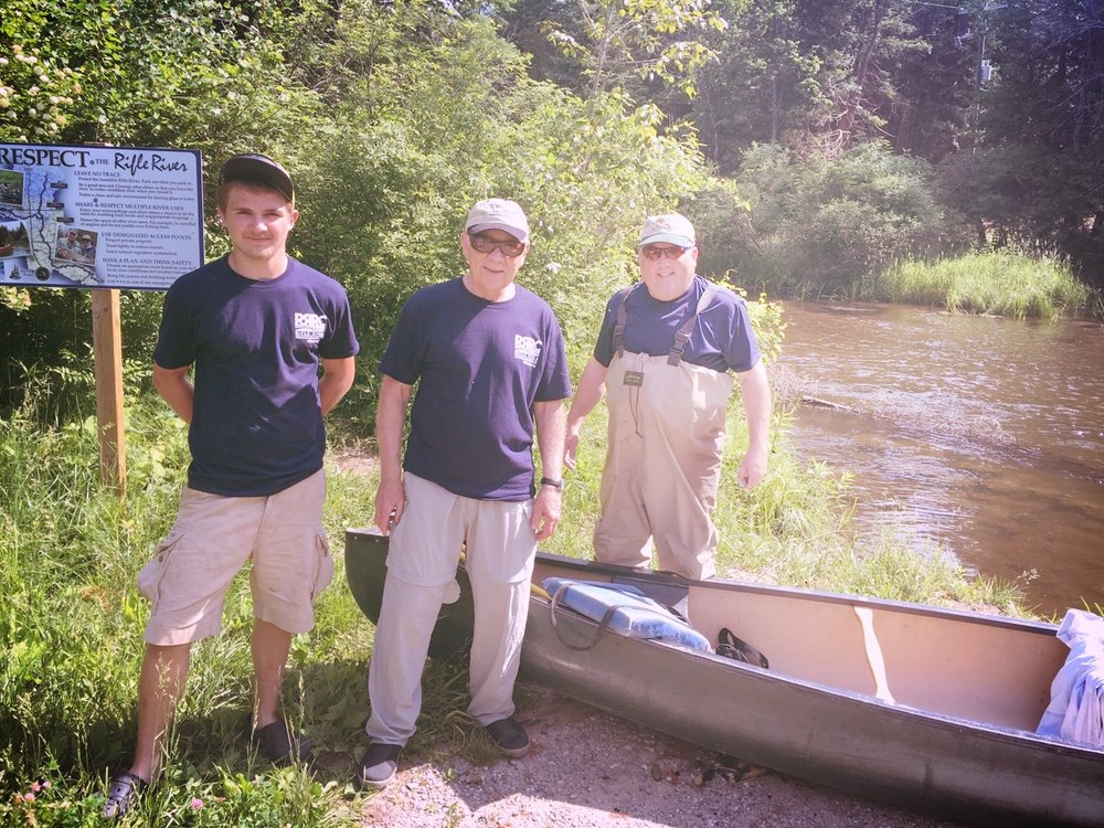 Rifle River Cleanup Events - Each year the RRRC organizes a cleanup event along a portion of the Rifle River.  Click to view our Project Log of the most recent event.