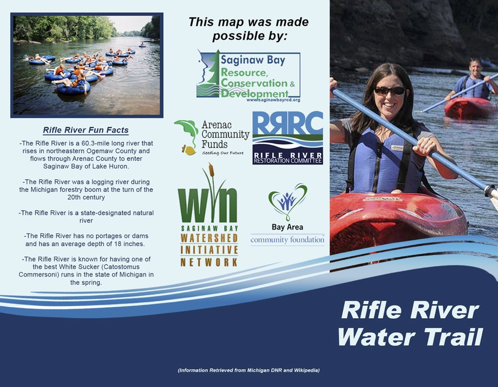 CLICK ON THE COVER TO EXPAND TO FULL SCREEN  >  CLICK TO   DOWNLOAD PRINTABLE PDF FILE    OF RIFLE RIVER WATER TRAIL MAP