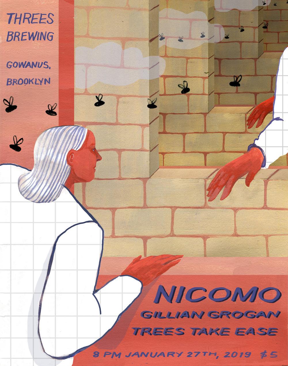 Nicomo  Gig Poster