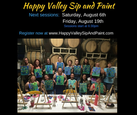 Happy Valley Sip & Paint @ Big Spring Spirits