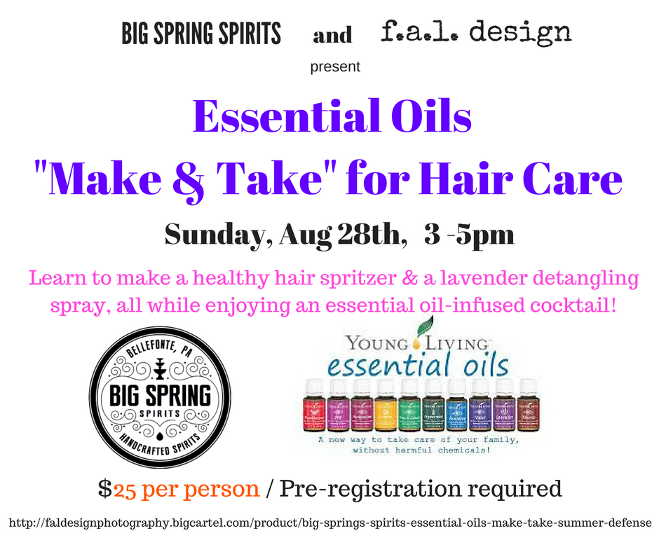Essential Oils Make & Take Class @ Big Spring Spirits