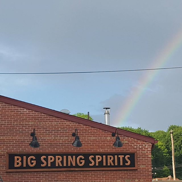 I think this rainbow got it right.  It's barrel(s) of gold(en whiskey) at the end of the rainbow, not a pot of gold. #rainbow #barrelofwhiskey #potofgold