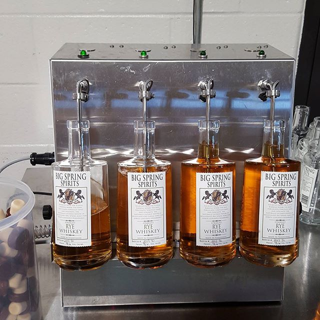 Just in time for Father's day!  We are bottling up our first batch of straight rye today.  Two years old and 100% rye.  If you like bold, spicy whiskeys, this is the one for you #rye #ryewhiskey #spicy #fathersday