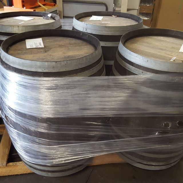 Just received our empty petite sirah dessert wine barrels from @bialevineyards in Napa, CA.  They smell fabulous.  These will get filled with rye and put to rest.  How long?  We don't know yet, could be 3 months (hello Christmas gifts) or it might be a year.  We'll keep you posted.  Thank you Biale! #bialevineyard #dessertwine #rye #portbarrelfinishedrye