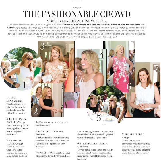 Rush Fashion Show Models Luncheon, June 21, 2016