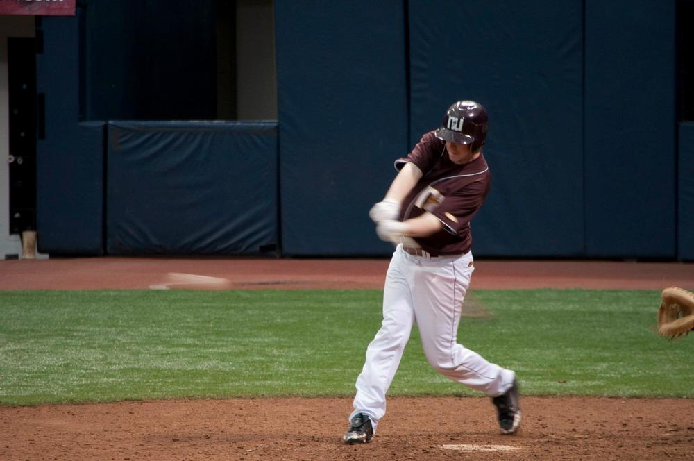 Jack Thompson playing for Northern State University in the Metrodome, old home of the Minnesota Twins!