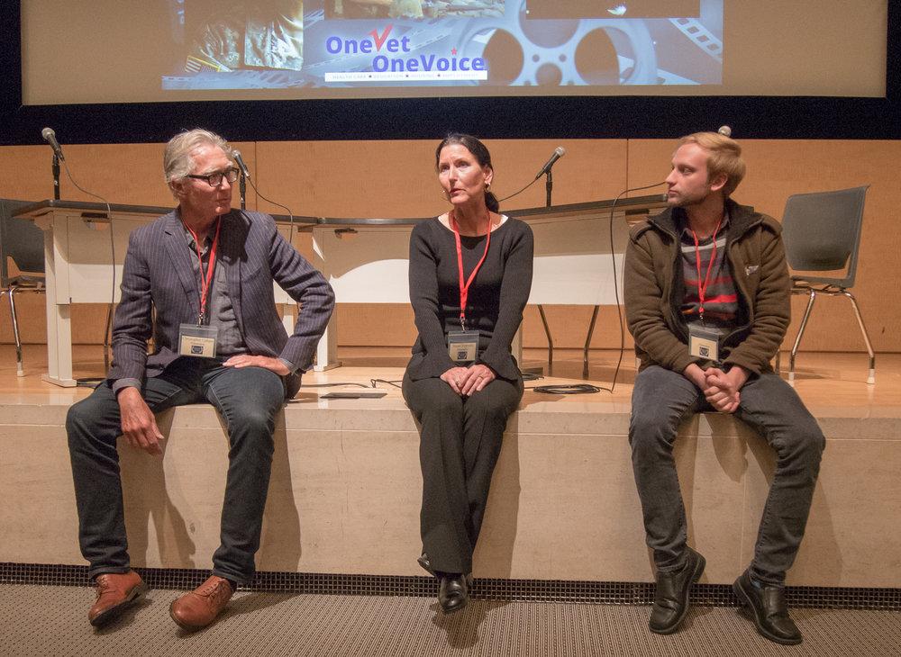 Filmmakers Christopher Upham, Susan Sipprelle, Joshua Feigenbaum