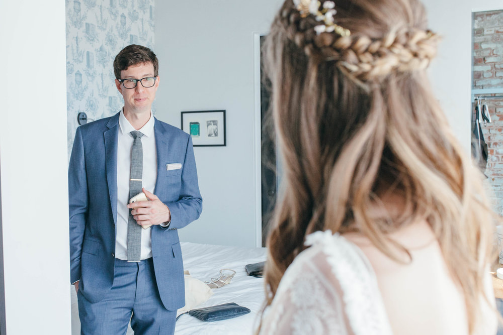 Wedding photography at the Wythe Hotel