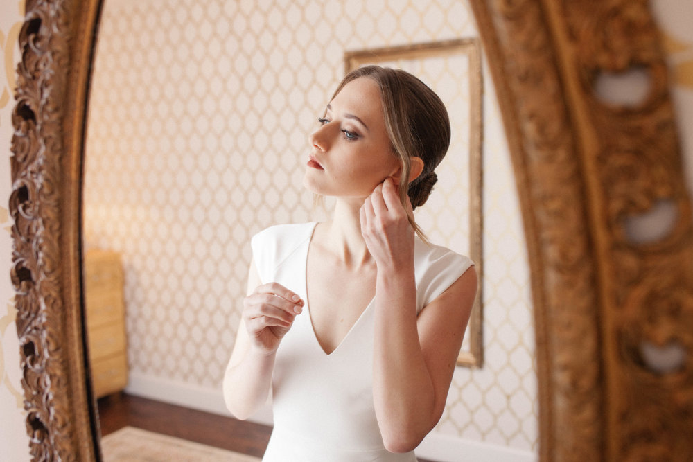 bridal portrait on her wedding day