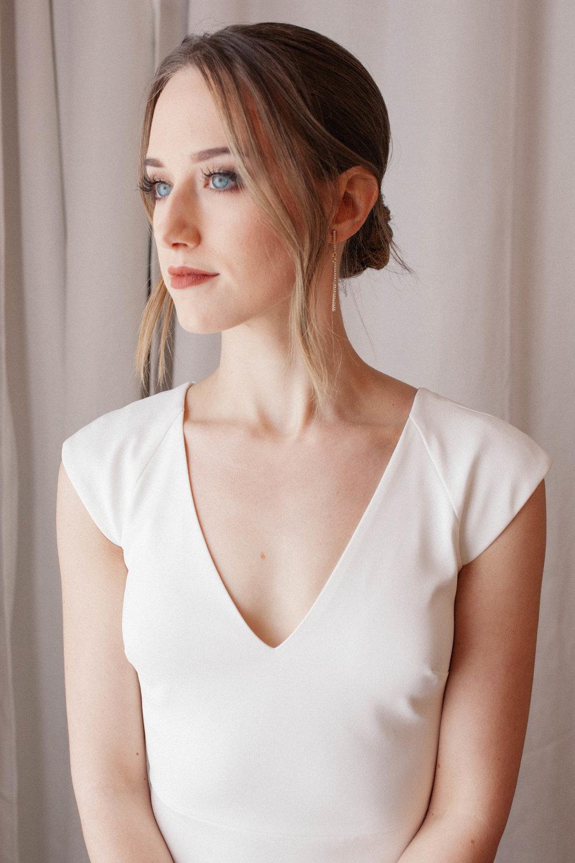 Bridal Portrait with Modern Wedding Dress
