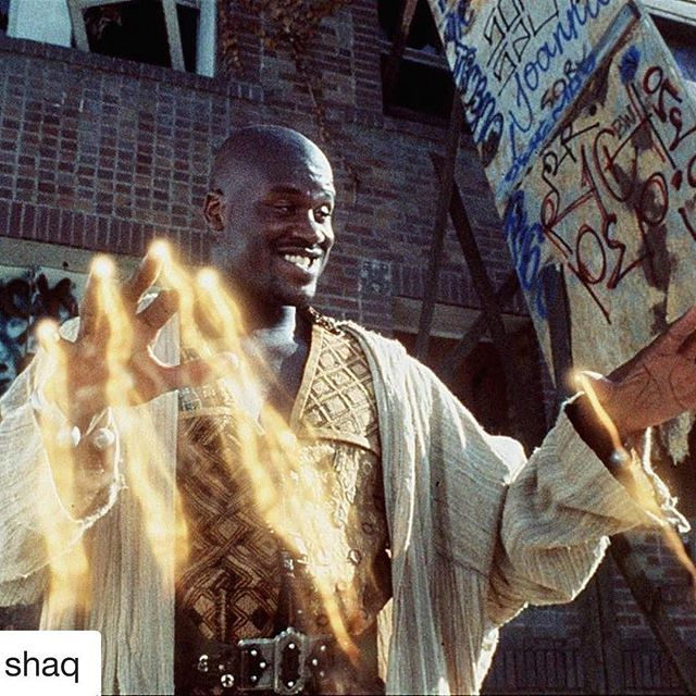 #Repost @shaq with @repostapp ・・・ Celebrating the 20 year anniversary of the greatest film ever made! #Kazaam