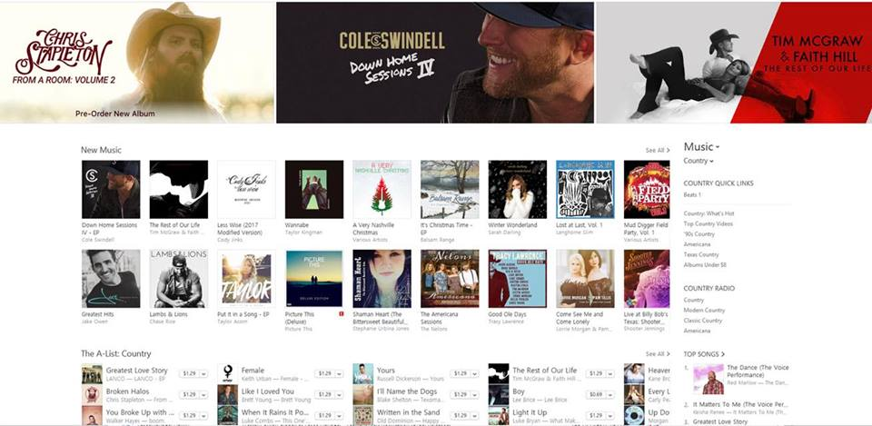 November 27, 2017  SUJ's album Shaman Heart - The Bittersweet Beautiful Ride is chosen by ITunes to be featured alongside artists such as Chris Stapleton, Faith Hill, and Tim McGraw.
