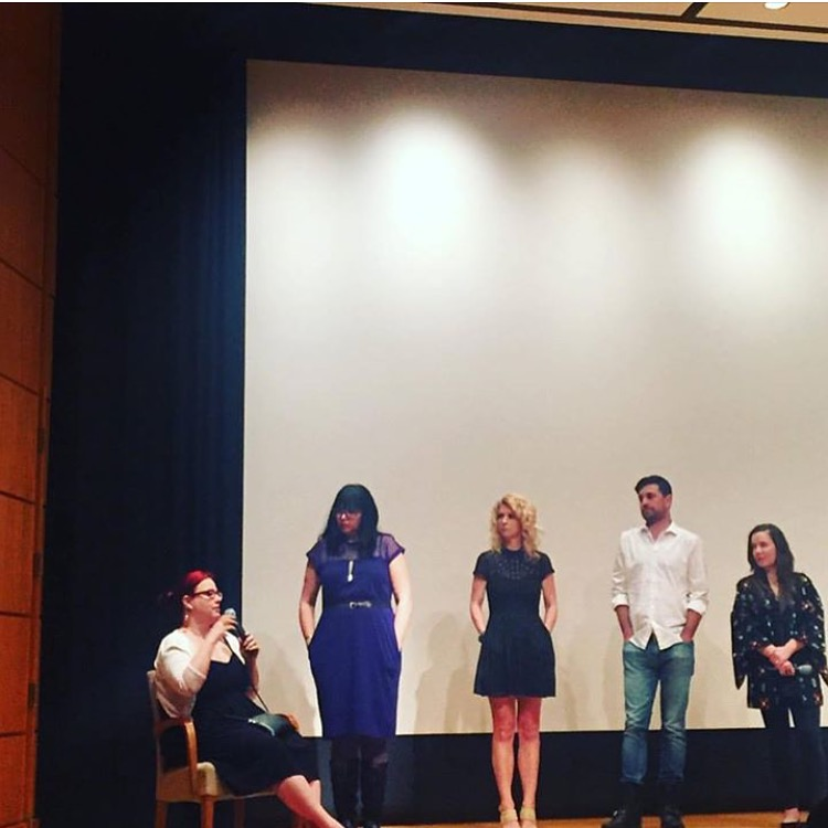 Co-writer Courtenay Hameister, Creator/Co-writer Alicia J. Rose, Co-stars Brooke Totman & Kurt Conroyd and producer Lara Cuddy participate in a Q&A after TBOG Binge Screening at The Whitsell Theater in Portland Oregon April 28, 2016.