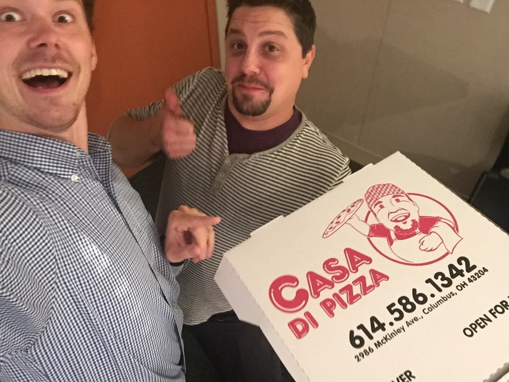 Pizza makes us do crazy things.