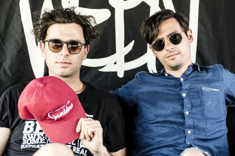 Visiting with the Candian band, The Arkells.