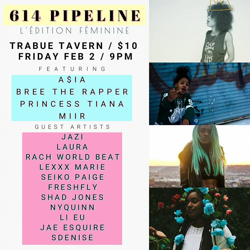 614 Pipeline features a handful of female artists at Trabue Tavern on Feb. 2.