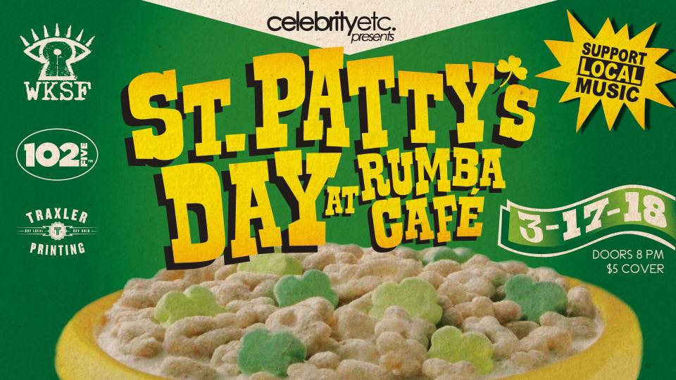 Promotional photo for Rumba Café's St. Patty's Day celebration. (Photo via  Facebook )