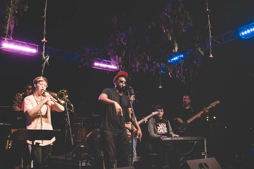 Mistar Anderson, from left to right: Faheem Najieb, Elaine Mylius, Eric Rollin, Ryan Sullivan, David Swank and Enes Reynolds. (Photo by: Josh Miller)