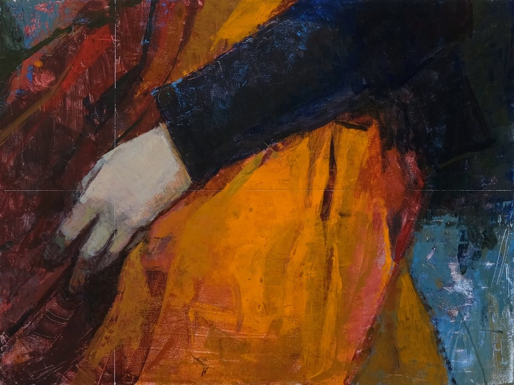 Orange Skirt, acrylic, 9 x 12 inch, 2019