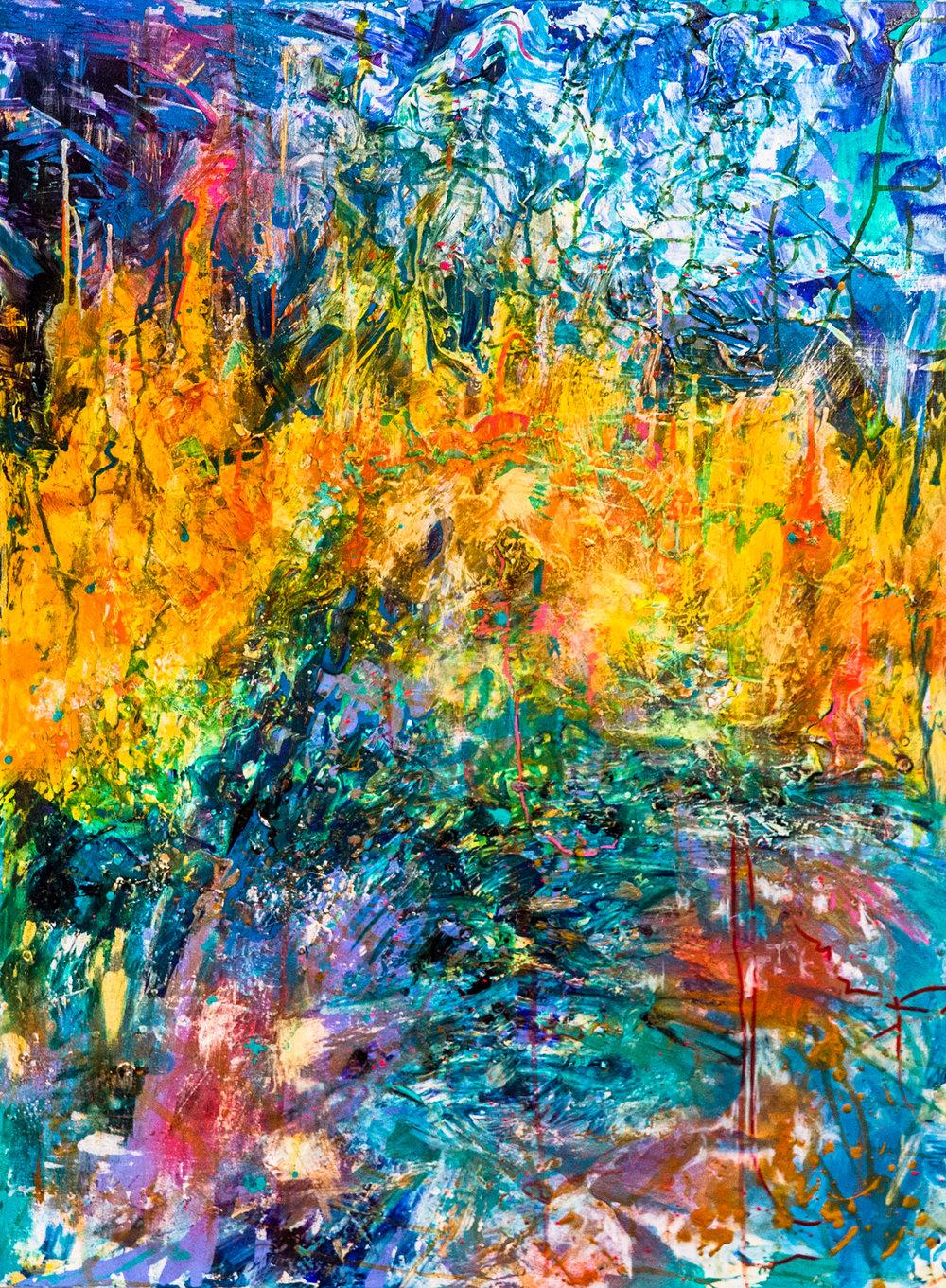 Fire & Ice /  48 x 36 / Mixed Media / 2015