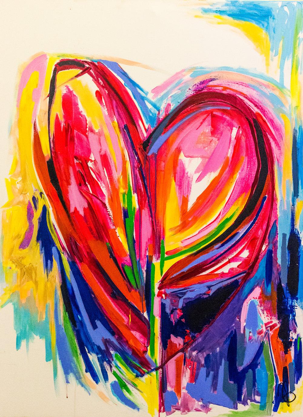One Heart /  48 x 36 / Acrylic / 2016 /  SOLD