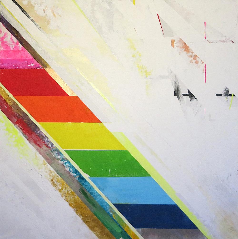 LEUCHTGESCHOSS  acrylic on canvas, 100 x 100 cm, 2013