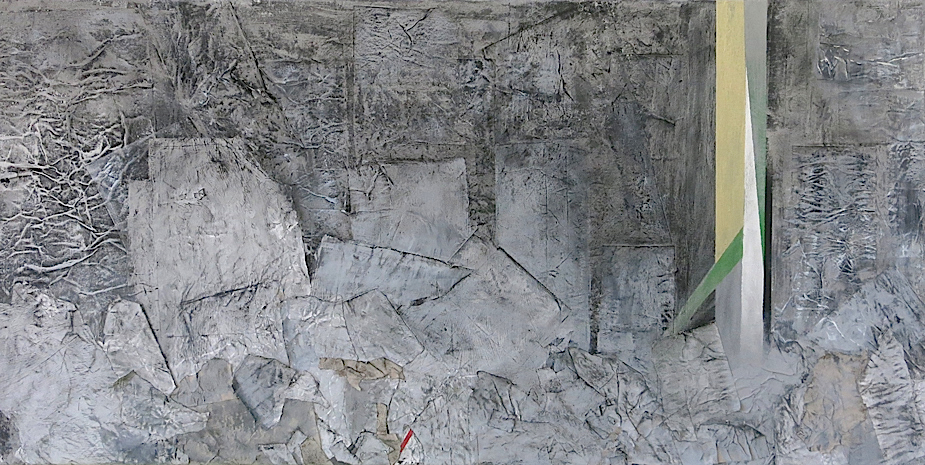 HOFFNUNGSHERD  acrylic, paper on canvas, 100 x 50 cm, 2015