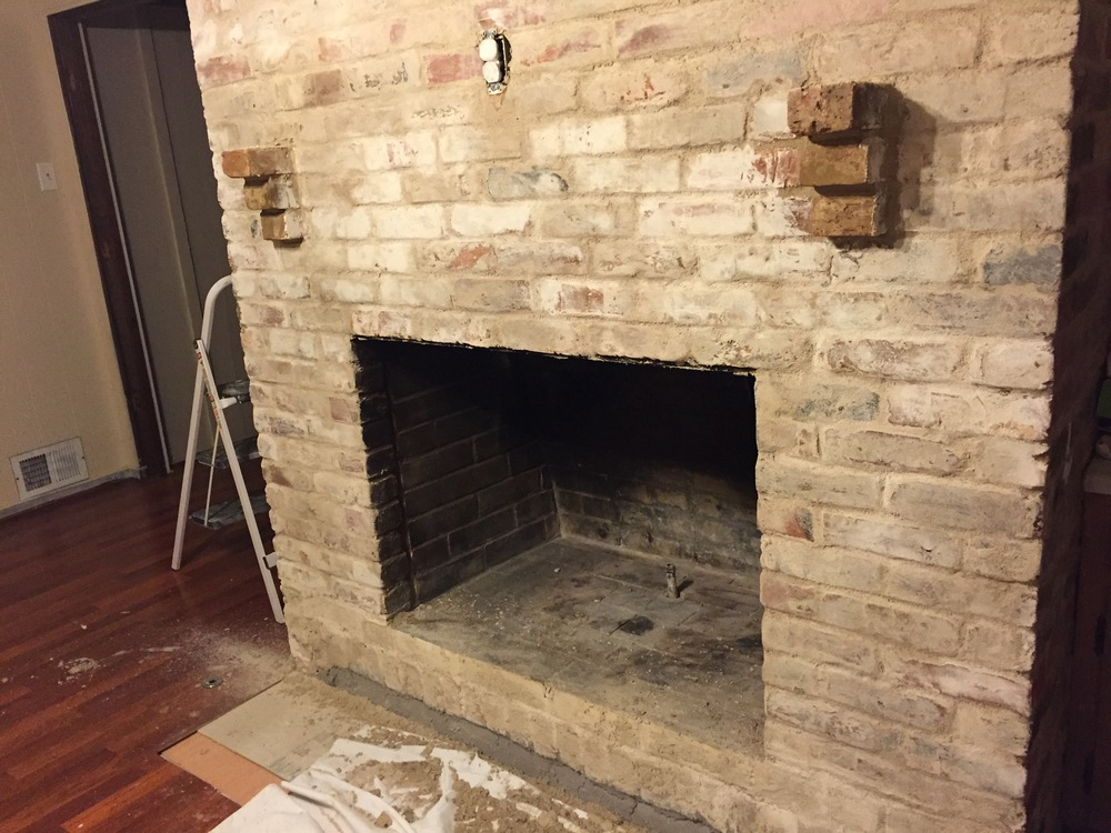 how to mortar wash german smear a brick fireplace updated may rh thechathamcollective com  what kind of mortar for fireplace tile