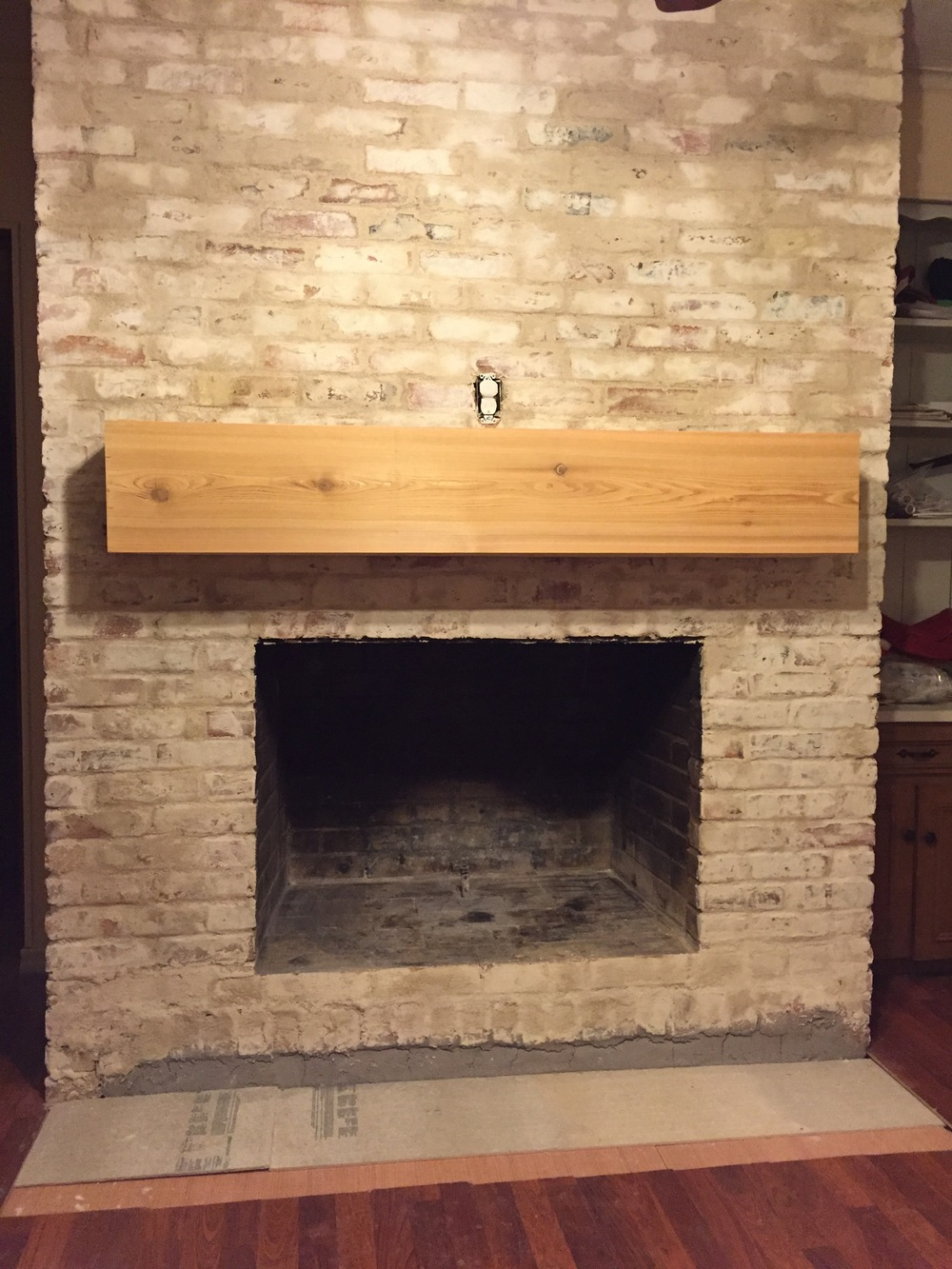 How To: Mortar Wash (German Smear) a Brick Fireplace (Updated May ...